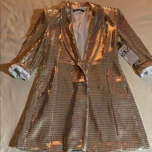 Gold blazer Zara